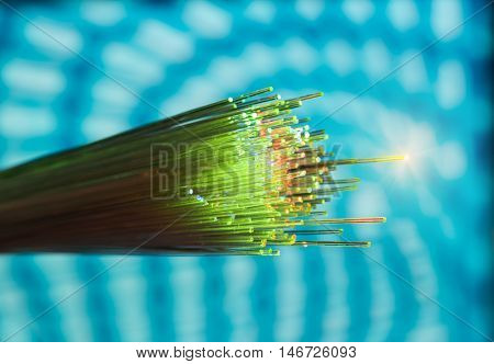 optical fiber with details and light effects