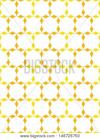 Seamless texture with yellow rhombs, geometric pattern, abstract net