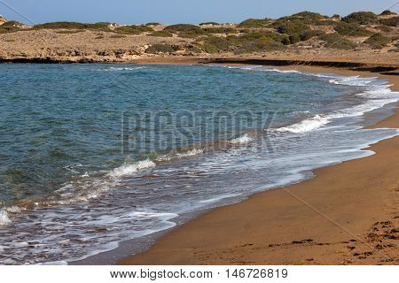Turtle Beach Alagadi in the Mediterranean near Kyrenia (Girne) in Northern Cyprus.