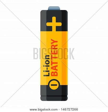 Battery electricity charge technology and alkaline. Flat battery accumulator symbol generation voltage. Color batterie electricity charge technology vector.