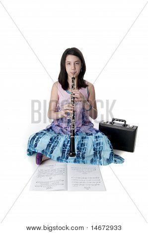 Cute Preteen Musician