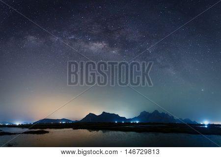 Milky Way at Sam Roi Yot Prachuap Khirikhan Province Thailand