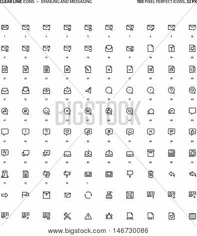 File Formats Clear Line Icons