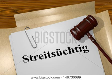 Streits?chtig - The German Word For Argumentative