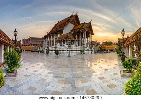 Wat Suthat Thep Wararam is a Buddhist temple in Bangkok Thailand. It is a royal temple of the first grade one of ten such temples in Bangkok.