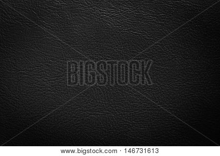 Close up black leather and texture background