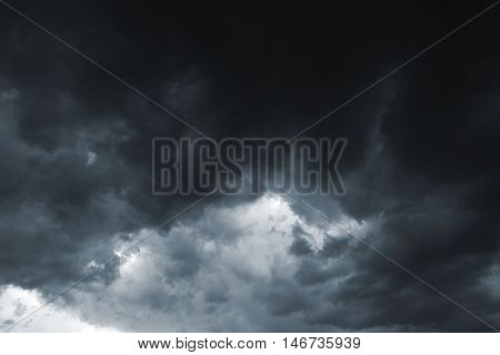 Beautiful storm sky with clouds, apocalypse, tunder, tornado