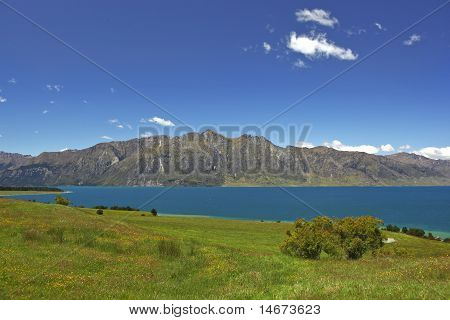 Lake Hawea View New Zealand