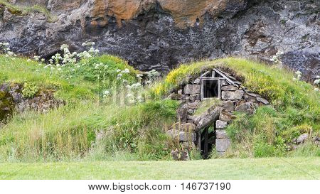 Abandoned Icelandic houses in the south of Iceland