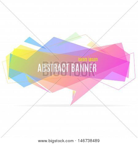 Banner Geometric Trendy Abstract Speech Bubble. Vector illustration
