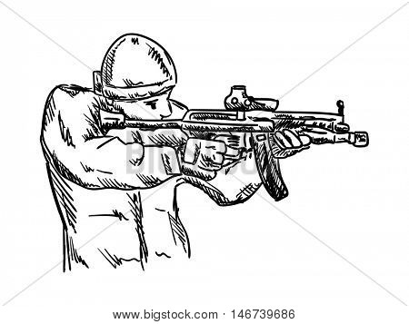 vector - isolated on background - soldier