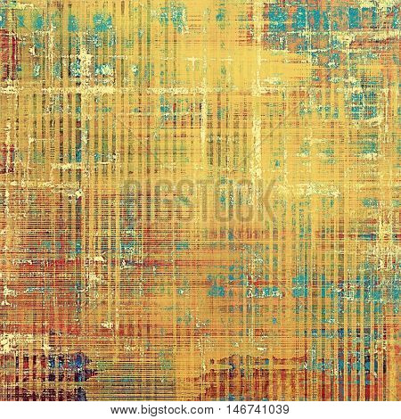Vintage old-style texture, worn and rough grunge background with different color patterns: yellow (beige); brown; blue; red (orange)