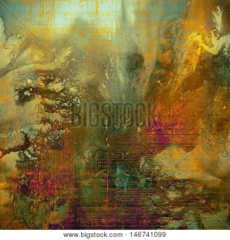 Vintage design background - Grungy style ancient texture with different color patterns: yellow (beige); brown; gray; blue; red (orange); pink