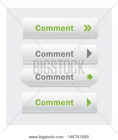 Comment. Set of vector web interface buttons. Shapes and styles variations.