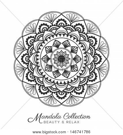 Tibetan Mandala Decorative Ornament Design For Coloring Page Greeting Card Invitation Tattoo Yoga And Spa Symbol