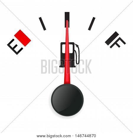 Fuel gauge. Half tank. Vector illustration on white background