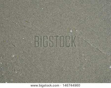 Close up of sand texture. Dry and wet sand on a sunny day. Texture useful as background