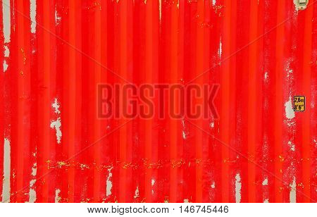 Red container texture with background for decorate