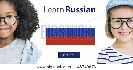Learn Russian Language Online Education Concept