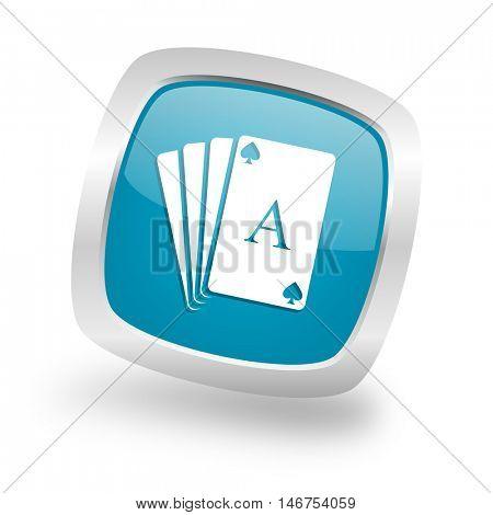 card square glossy chrome silver metallic web icon