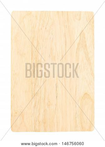 close up chopping block isolated on white backgrond.