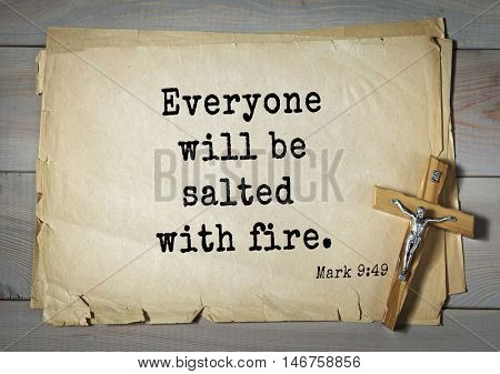 TOP-350. Bible verses from Mark.Everyone will be salted with fire.