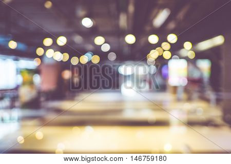 Blurred Background : Customer Shopping At Department Store With Bokeh Light