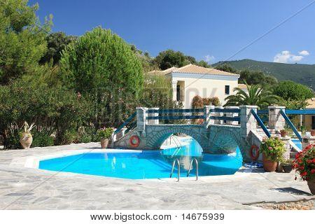 greek islands hotel swimming pool