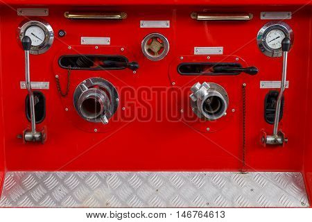Fire extinguisher control panel with all function