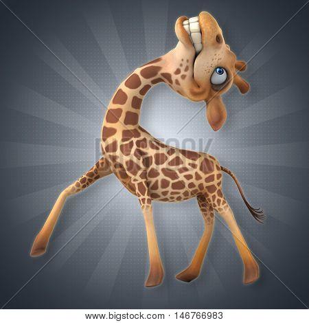 Giraffe - 3D Illustration