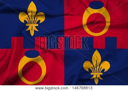 Waving Flag Of Montgomery County, Maryland, Usa