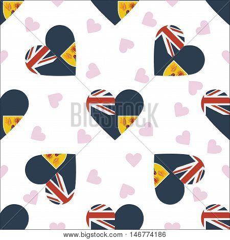 Turks And Caicos Islands Independence Day Seamless Pattern. Patriotic Background With Country Nation