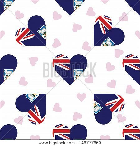 Falkland Islands (malvinas) Independence Day Seamless Pattern. Patriotic Background With Country Nat