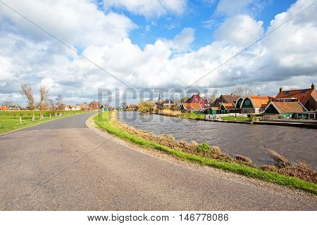 Typical dutch landscape in the countryside from the Netherlands
