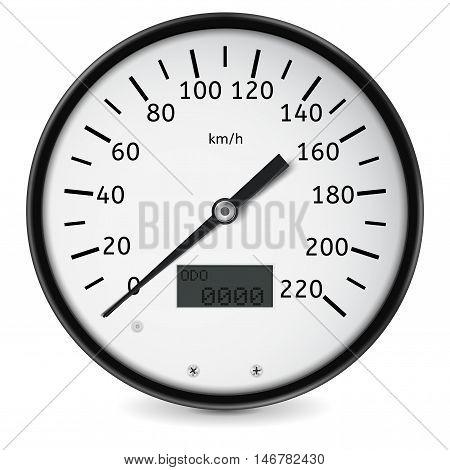 Speedometer. Speed gauge. Vector illustration isolated on white background