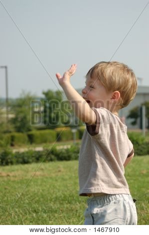 Boy Waving
