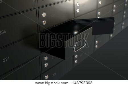 Black Safe Deposit Box Wall