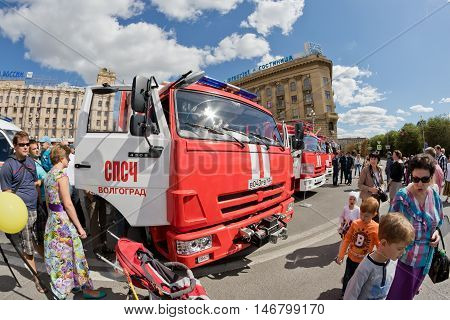 A Fire Truck On Kamaz Chassis
