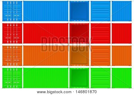 Shipping container . Vector Isolated on white background.