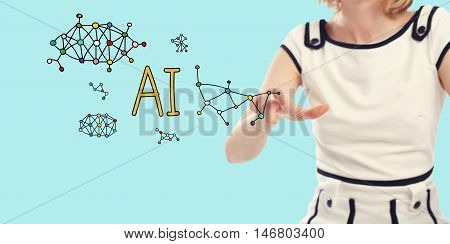 Ai Concept With Young Woman