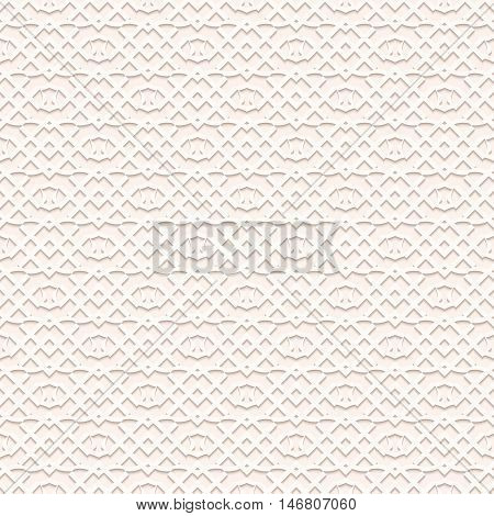 Paper background with shadow. Arabesque art. Perforated wallpaper. Openwork backdrop. Vintage design. Arabian illustration. Eastern decoration. Islamic pattern. Ethnic ornament. Retro print. Vector.