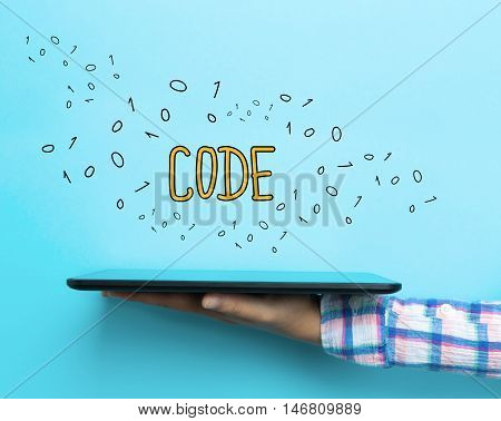 Code Concept With A Tablet