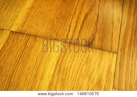 Old Wooden parquet damaged by water. Floor renovation concept