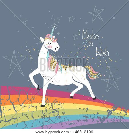 make a wish unicorn card