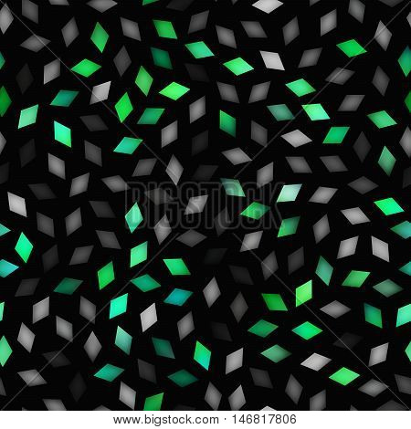 Vector Seamless Multicolor Gradient Rhombus Jumble Pattern. Abstract Geometric Background Design