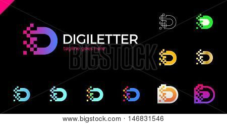 Business Corporate Letter D Logo Design Vector. Colorful Letter D Logo Vector Template. Letter D Log