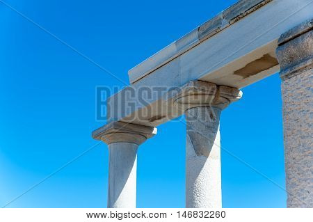 Close up of Demeter temple in Naxos