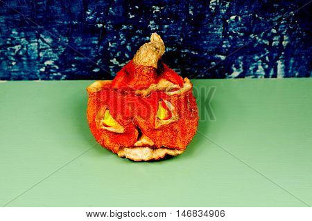 Day of Horror on Halloween. Jack-o-lantern (Pumpkin)