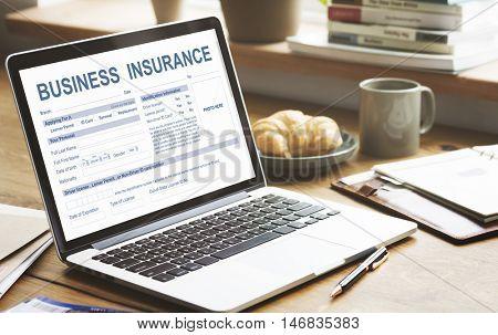 Business Insurance Management Concept