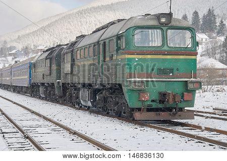 Old Diesel Passenger Train